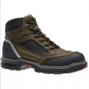 Wolverine Overman Brown Leather Safety WTP Boots